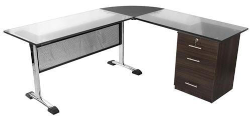 Muebles y escritorios ejecutivos modernos de vidrio en ele for Muebles en ele modernos