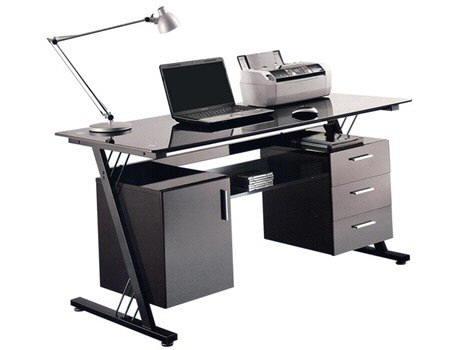 Muebles y escritorios ejecutivos modernos de vidrio en ele for Muebles de oficina precios