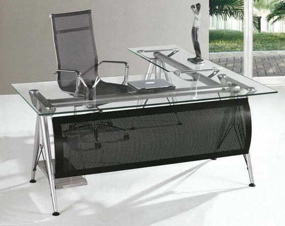 Muebles y escritorios en madera y vidrio formica para for Escritorios de madera para oficina