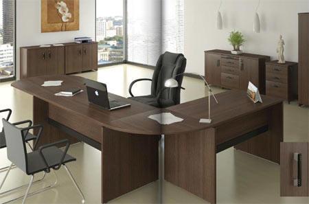 Muebles y escritorios ejecutivos modernos de madera en ele for Escritorios para oficina precios