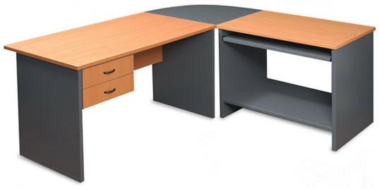 Muebles y escritorios ejecutivos modernos de madera en ele for Muebles para oficina en madera