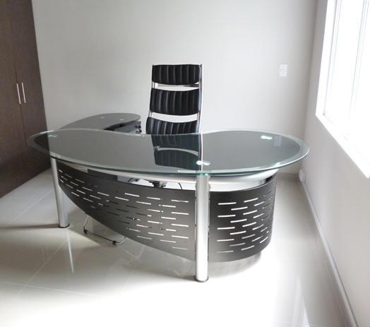 Muebles y escritorios ejecutivos modernos de vidrio en ele for Fabrica de escritorios de oficina