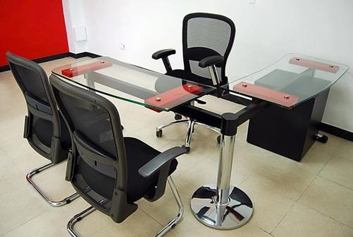 Muebles y escritorios ejecutivos modernos de vidrio en ele for Escritorios oficina precios